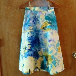 Watercolor A-line Skirt